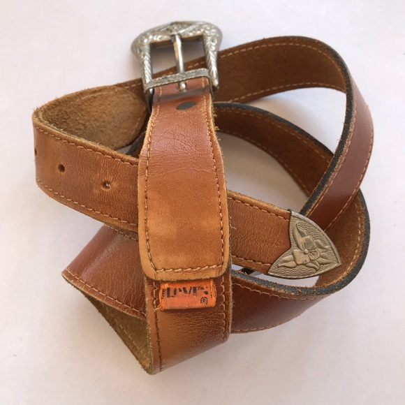 Levi's Accessories - Vintage Levi's orange tab western style belt